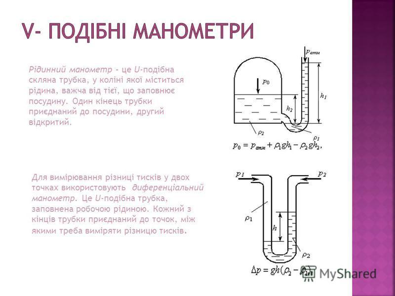В цьому приладі в якості пружного елемента використовується гофрована пластинчаста мембрана 1, затиснута між фланцями 2. Верхній фланець є складовою частиною корпусу манометра, а нижній представляє одне ціле з штуцером 5, що служить для приєднання пр