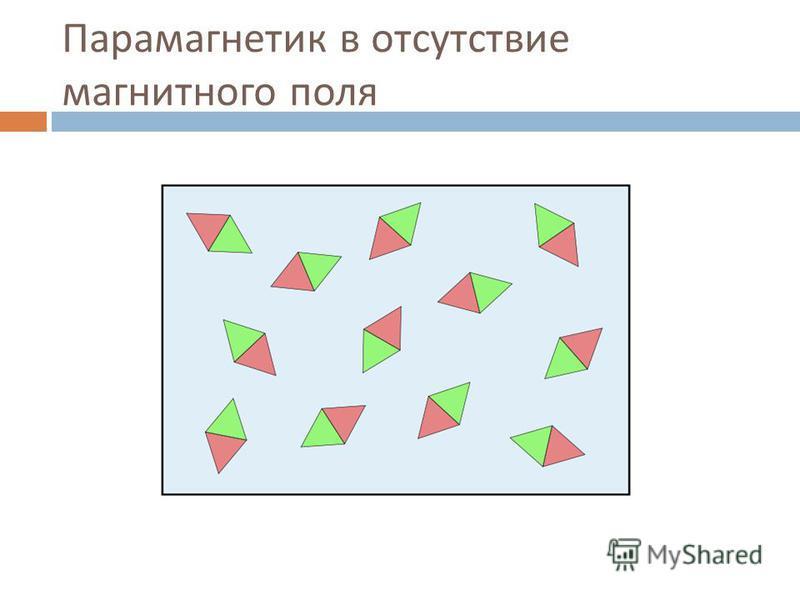 Парамагнетик в отсутствие магнитного поля