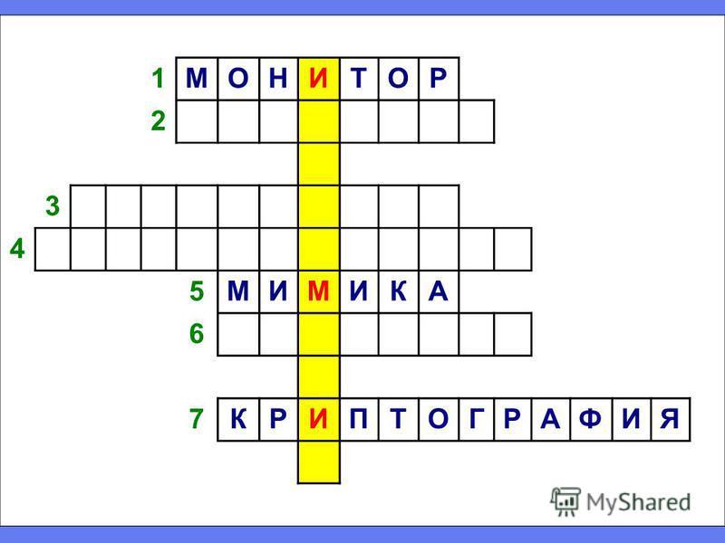 1МОНИТОР 2 3 4 5МИМИКА 6 7КРИПТОГРАФИЯ