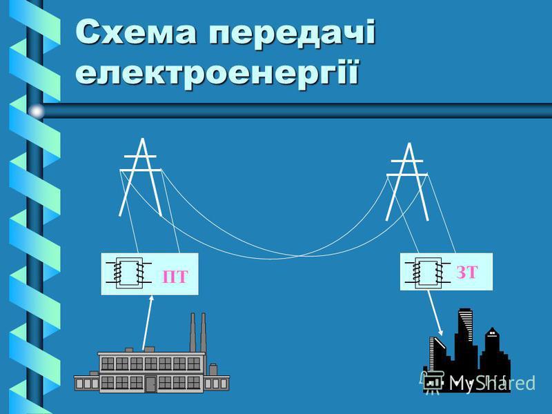 Схема передачі електроенергії ПТ ЗТ