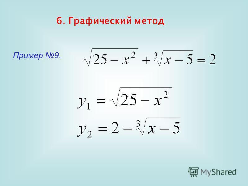 6. Графический метод Пример 9.