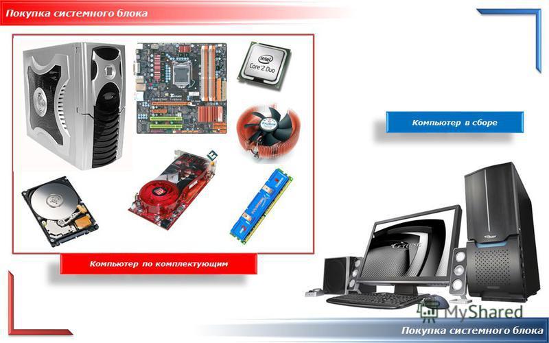 Покупка системного блока Компьютер в сборе Компьютер по комплектующим
