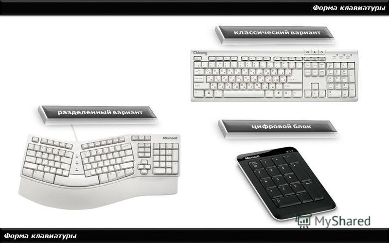 Форма клавиатуры