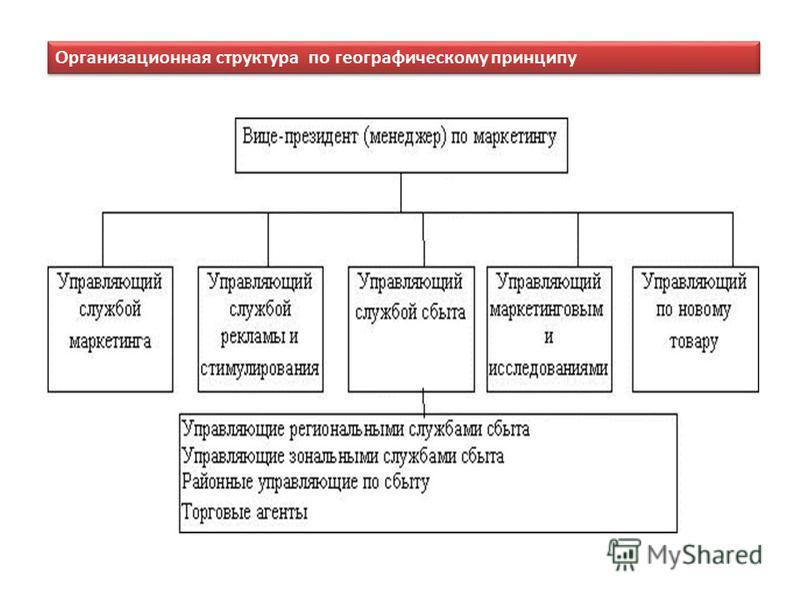 Организационная структура по географическому принципу