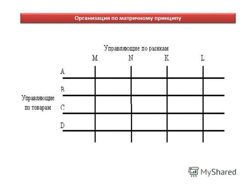 Организация по матричному принципу