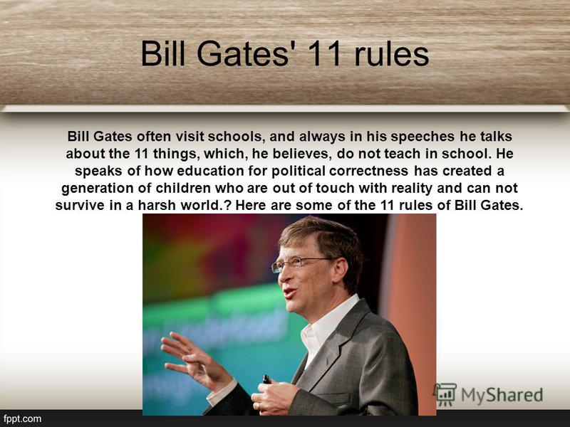 June 27, 2008 - the last day for Bill as the head of Microsoft. However, Gates is chairman of the Board of Directors, will focus on special. projects, and will remain the largest (8.7% of Microsoft) a shareholder of the corporation.
