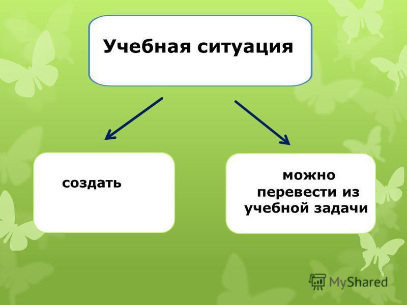 Учебная ситуация создать можно перевести из учебной задачи
