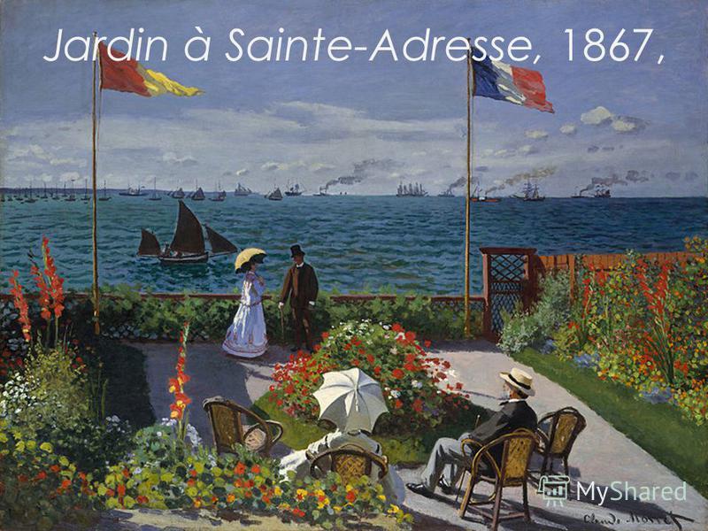 Jardin à Sainte-Adresse, 1867,