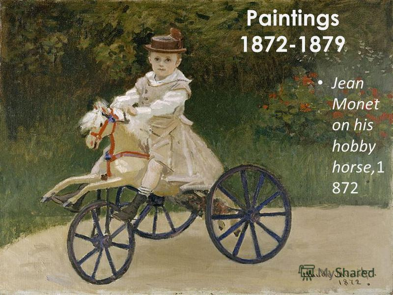 Paintings 1872-1879 Jean Monet on his hobby horse,1 872