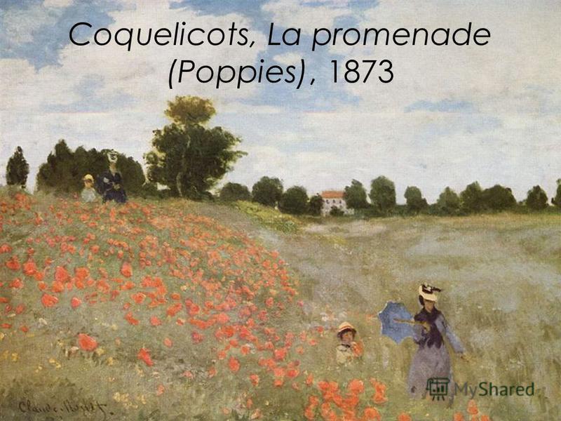 Coquelicots, La promenade (Poppies), 1873