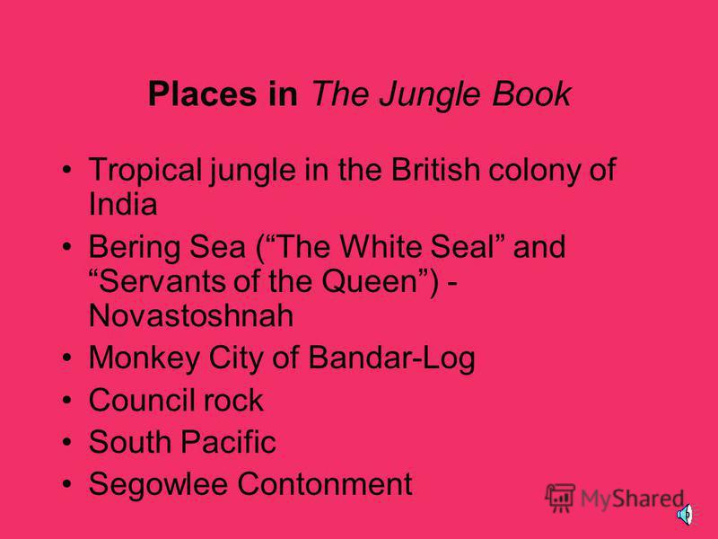 Themes Mistrust of People Who are Different –Mowglis entrance into the wolf pack –Mowglis entrance into the village, as well as the villagers perceptions of Mowgli The Value of Friendship –Relationships between Mowgli and the jungle animals Innocence