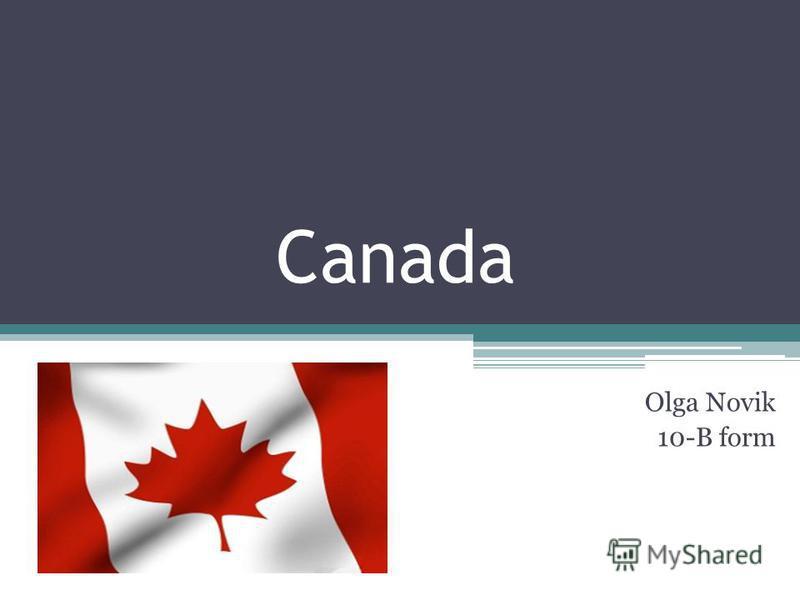 Canada Olga Novik 10-B form