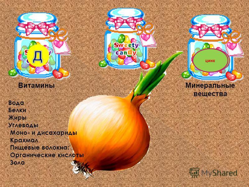 Минеральные вещества Витамины Вода Белки Жиры Углеводы Моно- и дисахариды Крахмал Пищевые волокна: Органические кислоты Зола