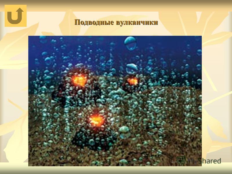 Подводные вулканчики