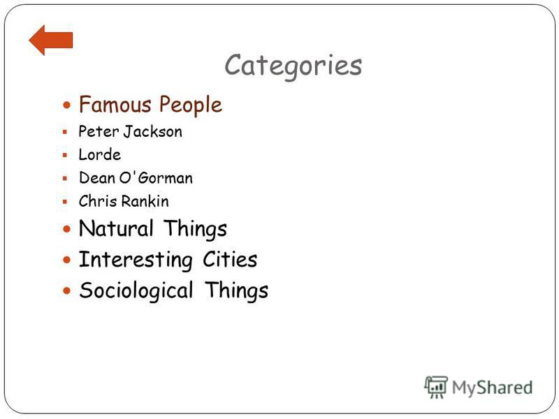 Categories Famous People Peter Jackson Lorde Dean O'Gorman Chris Rankin Natural Things Interesting Cities Sociological Things