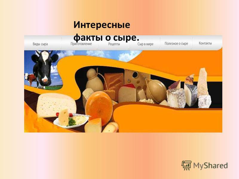 Интересные факты о сыре.