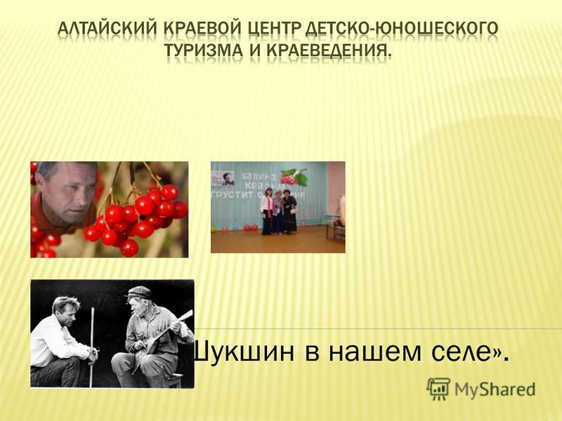 Тема: «Шукшин в нашем селе».