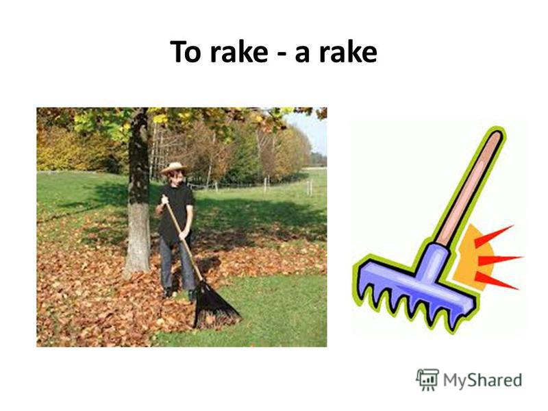 To rake - a rake