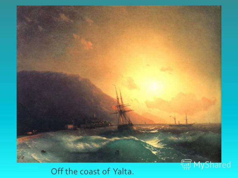 Off the coast of Yalta.