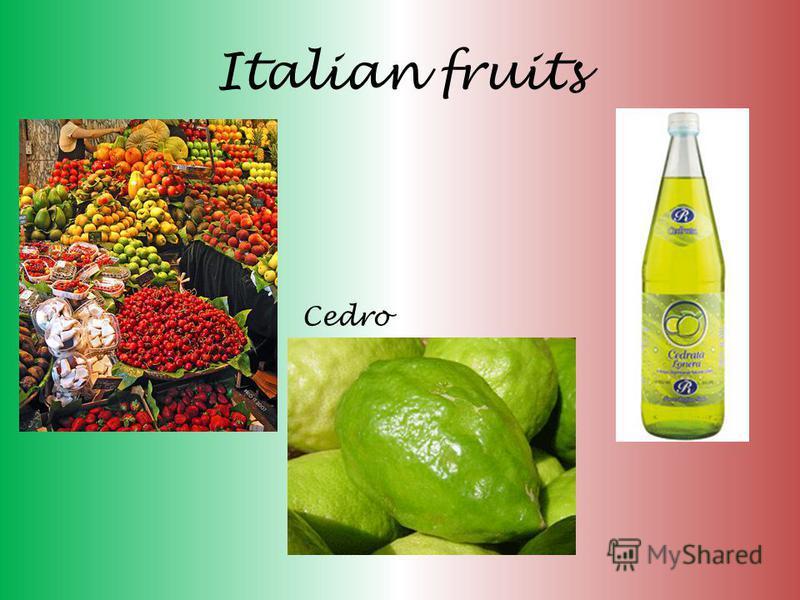 Italian fruits Cedro