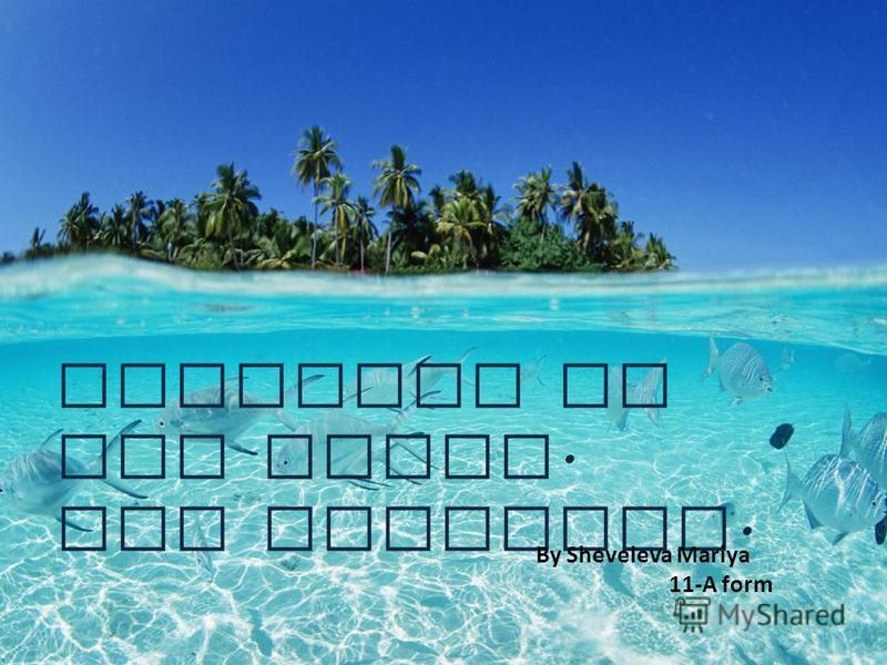 Paradise on the Earth. The Maldives. By Sheveleva Mariya 11-A form