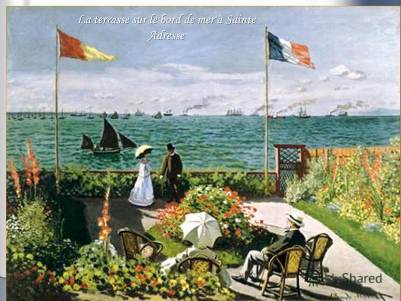 La terrasse sur le bord de mer à Sainte Adresse