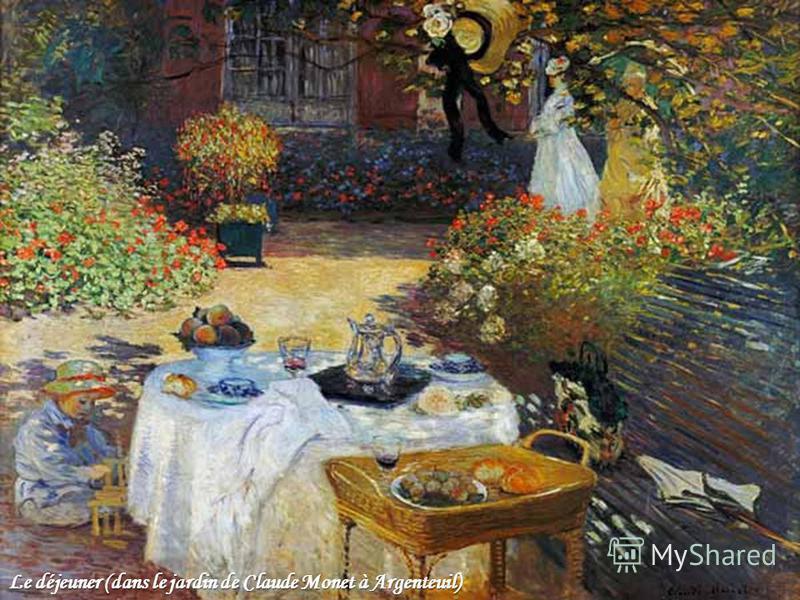 Le déjeuner (dans le jardin de Claude Monet à Argenteuil)