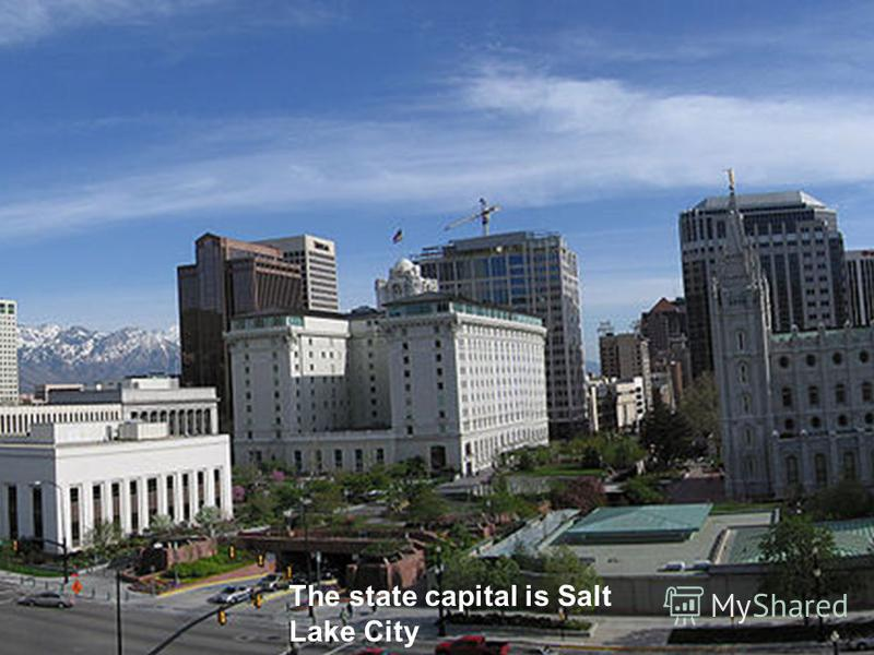 The state capital is Salt Lake City