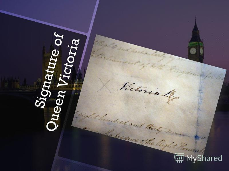Signature of Queen Victoria