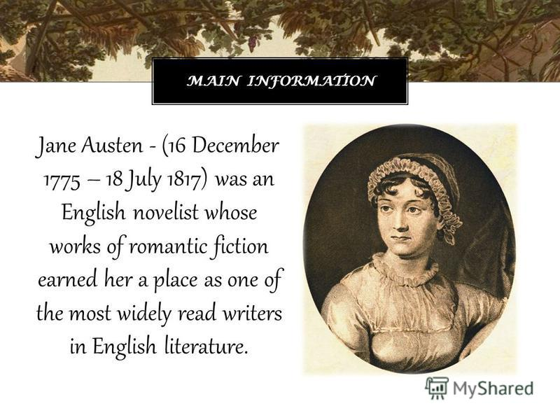 jane austen the english novelist Jane austen essay outline jane austen, the english novelist more about marriage and social classes in the novel emma by jane austen essay on emma by jane austen.