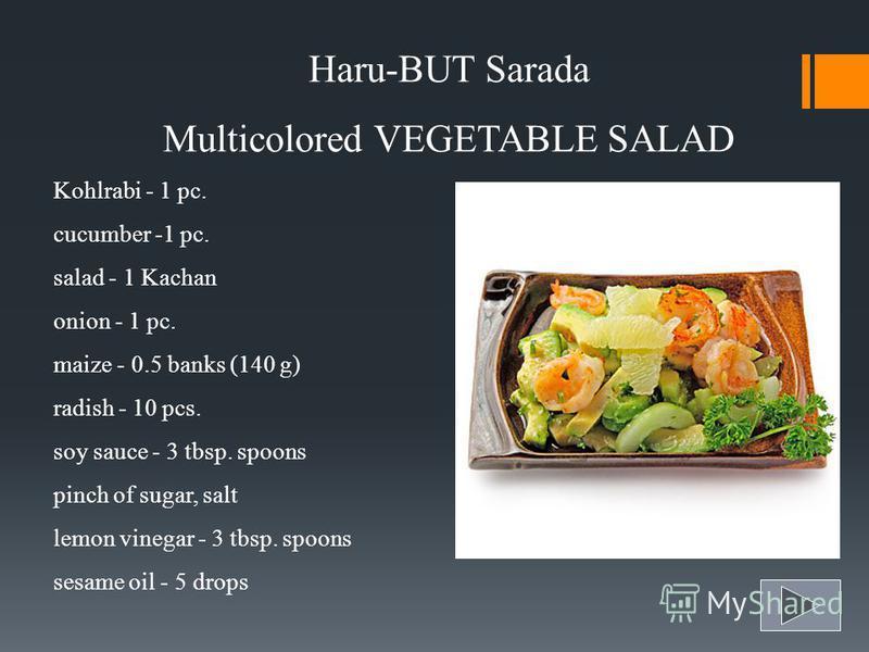Salads and Appetizers Haru-no-sarada Tacos-but-but-sous- mono