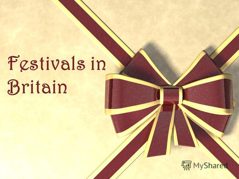 Festivals in Britain