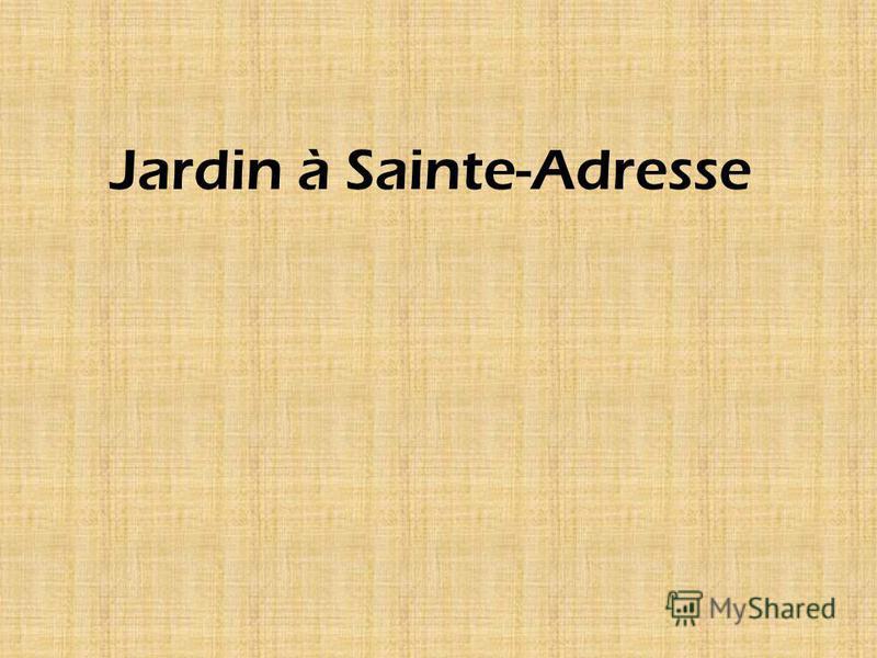Jardin à Sainte-Adresse