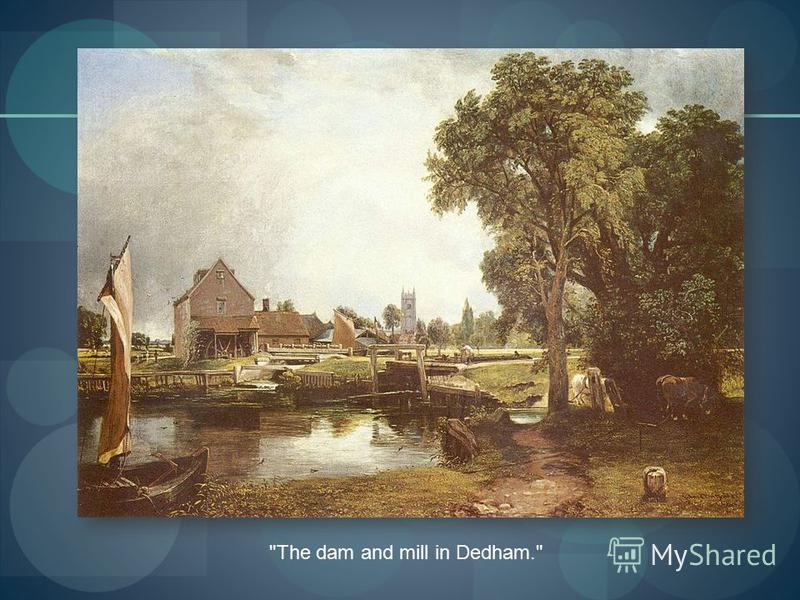 The dam and mill in Dedham.