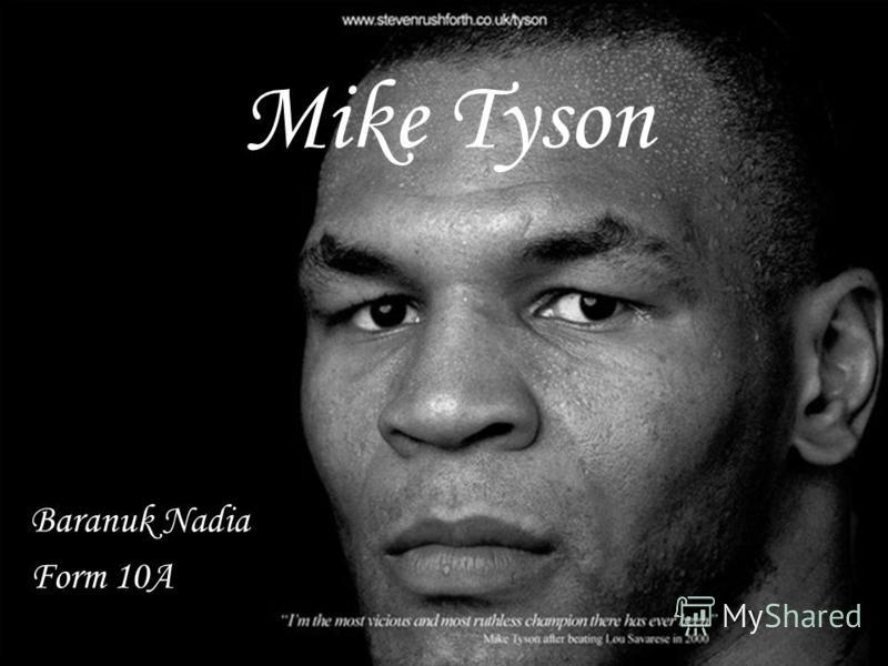 Mike Tyson Baranuk Nadia Form 10A