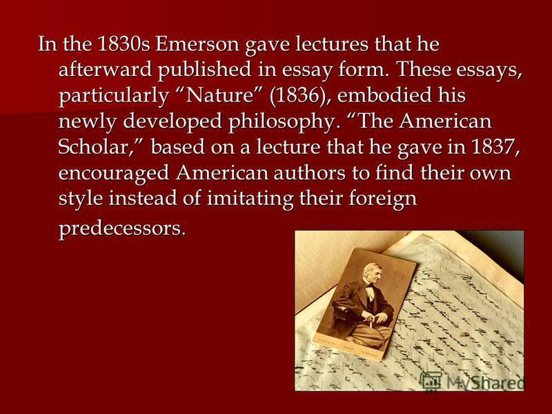 Презентация на тему ralph waldo emerson emerson  5 in