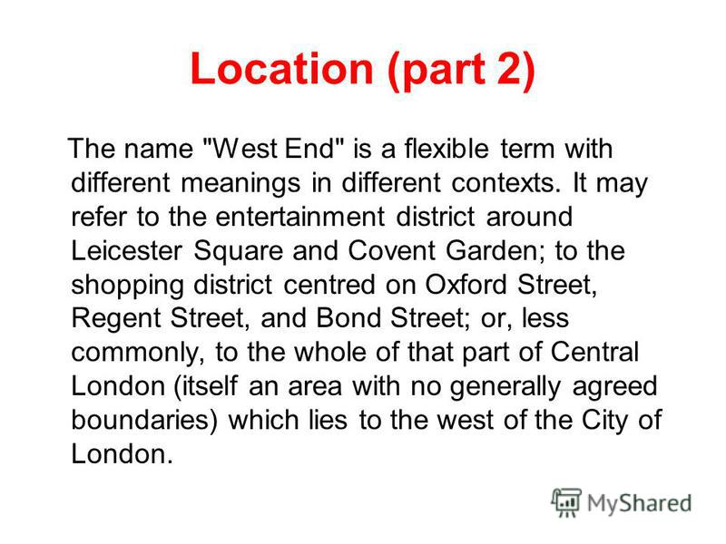 Location (part 2) The name