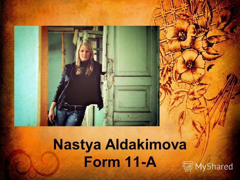 Nastya Aldakimova Form 11-A