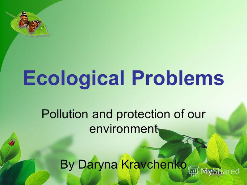 Ecological Problems Pollution and protection of our environment By Daryna Kravchenko