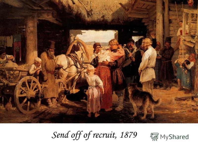 Send off of recruit, 1879