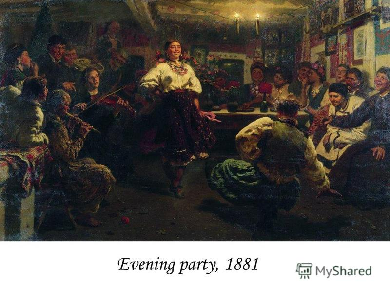Evening party, 1881