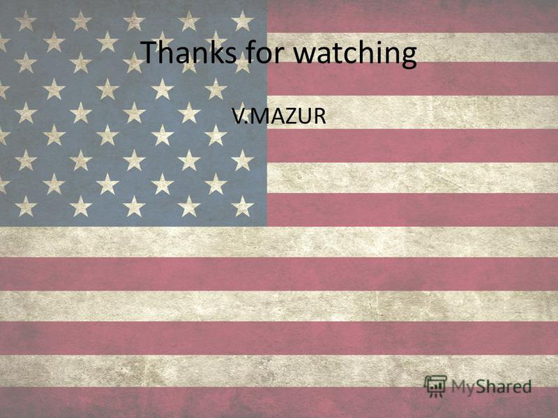 Thanks for watching V.MAZUR
