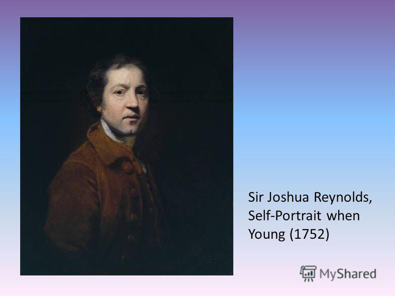 Sir Joshua Reynolds, Self-Portrait when Young (1752)
