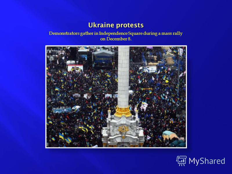 Demonstrators gather in Independence Square during a mass rally on December 8.
