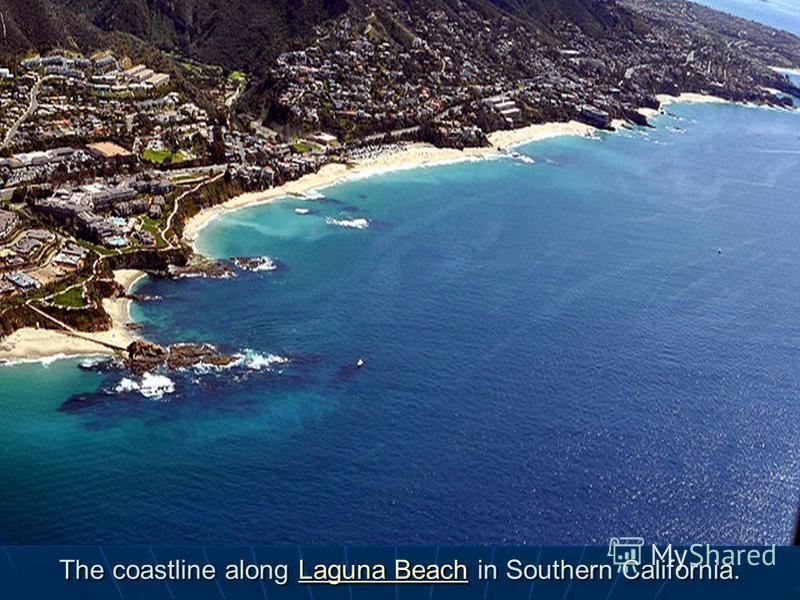 The coastline along Laguna Beach in Southern California. Laguna BeachLaguna Beach