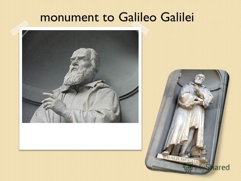 monument to Galileo Galilei