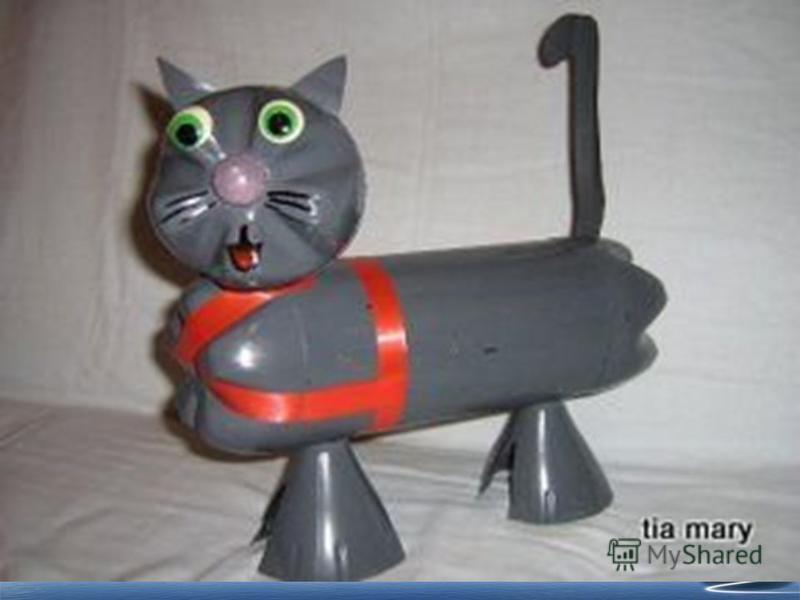 Как сделать котенка из бутылки 249