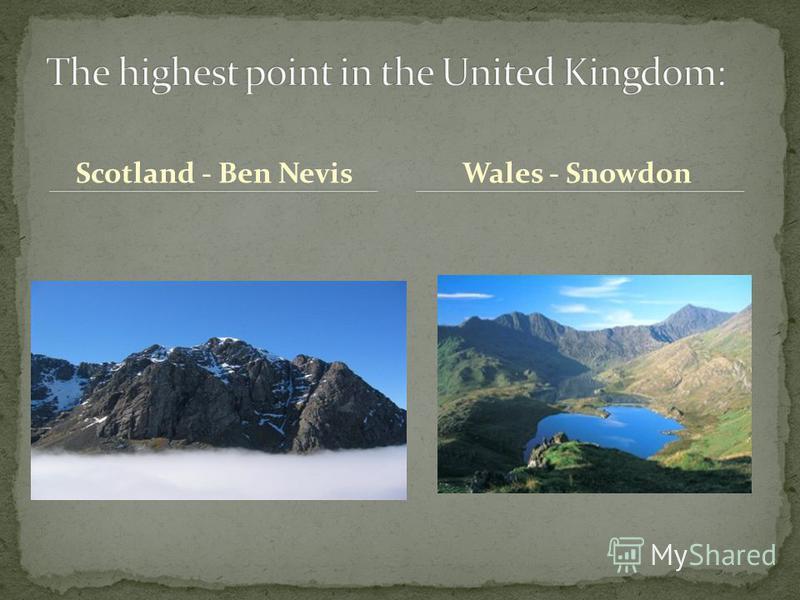 Scotland - Ben NevisWales - Snowdon