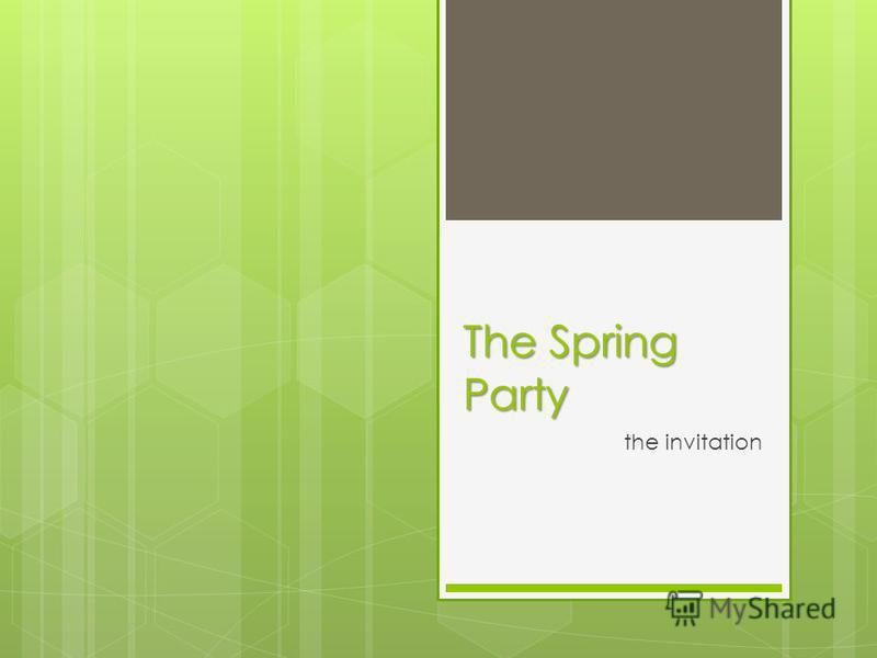 The Spring Party the invitation