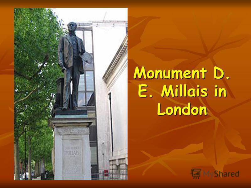 Monument D. E. Millais in London